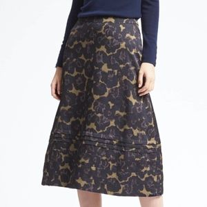 Banana Republic Stitched Floral Midi Skirt